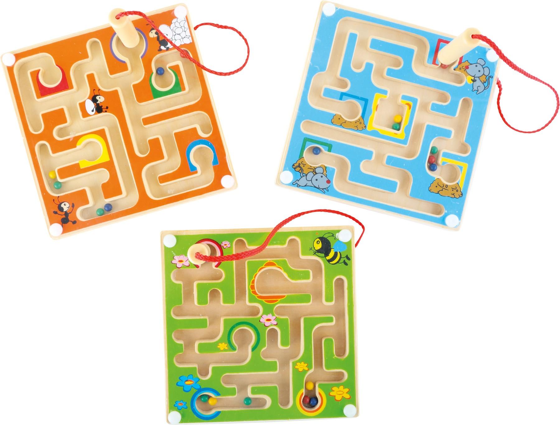 Magnetický labyrint - včelka, myška, mravenec