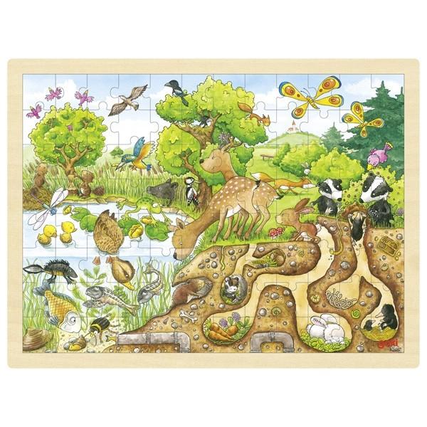 Příroda – dřevěné puzzle 96 dílů