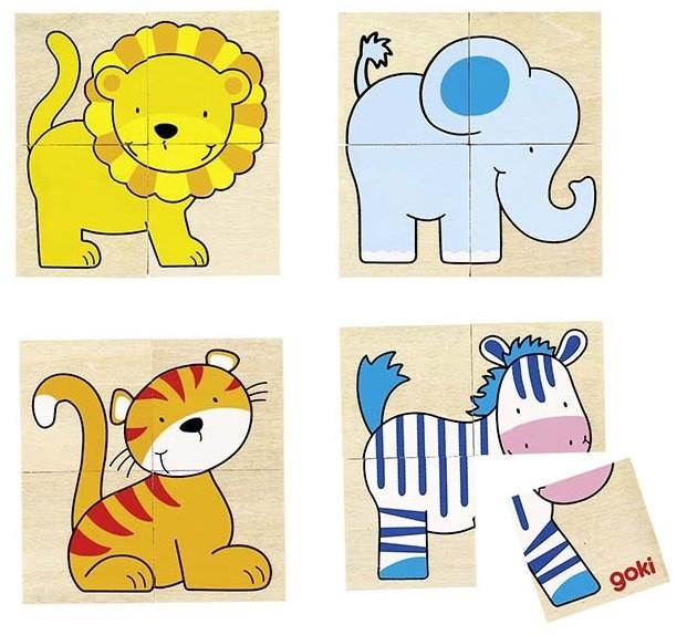 Puzzle a pexeso - Divoká zvířátka