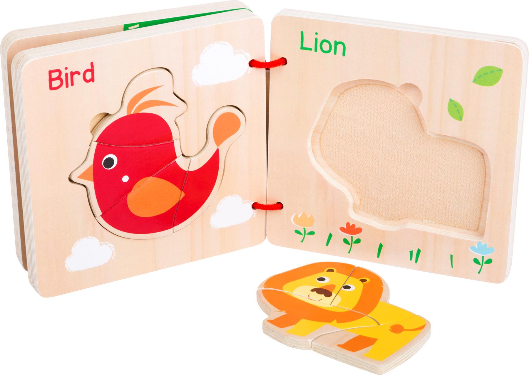 Puzzle kniha - zvířata