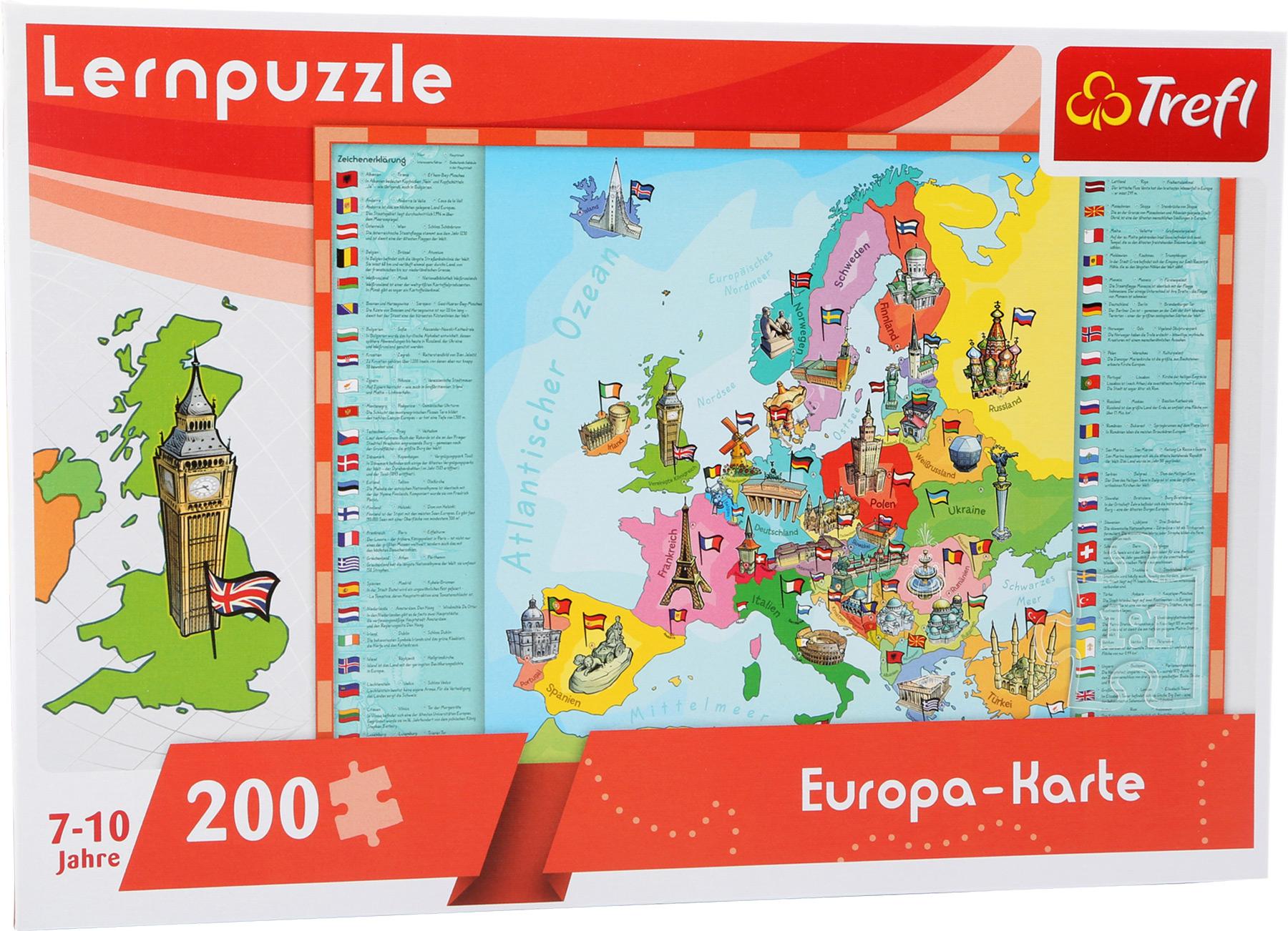 Puzzle - mapa Evropy
