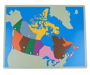 Puzzle - mapa Kanada - bez rámečku