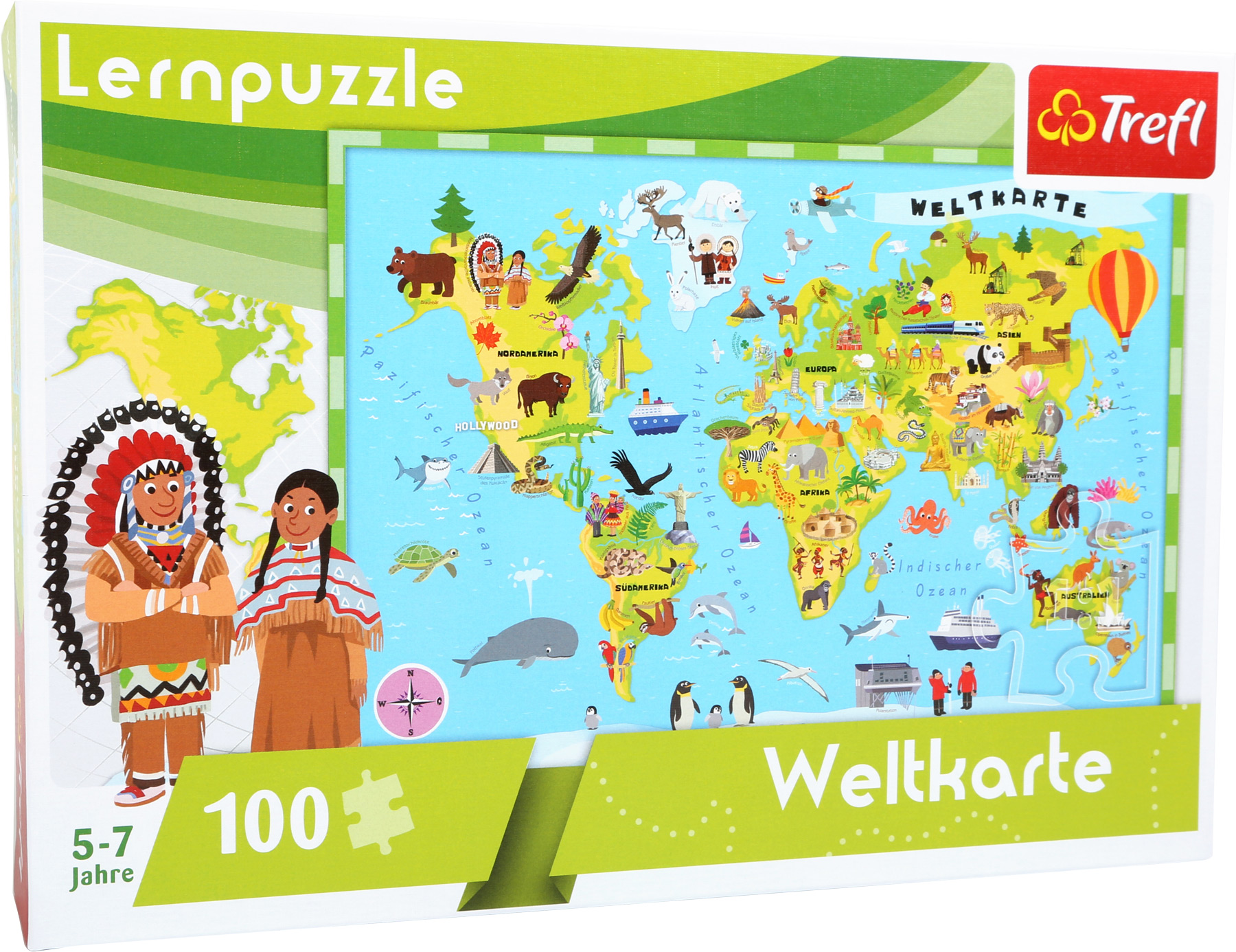 Puzzle - mapa světa