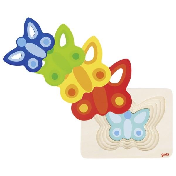 Vrstvené puzzle - motýli II