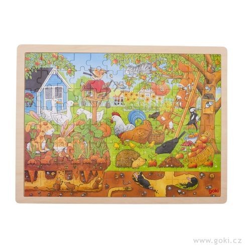 Puzzle - Naše zahrádka na zemi i pod zemí