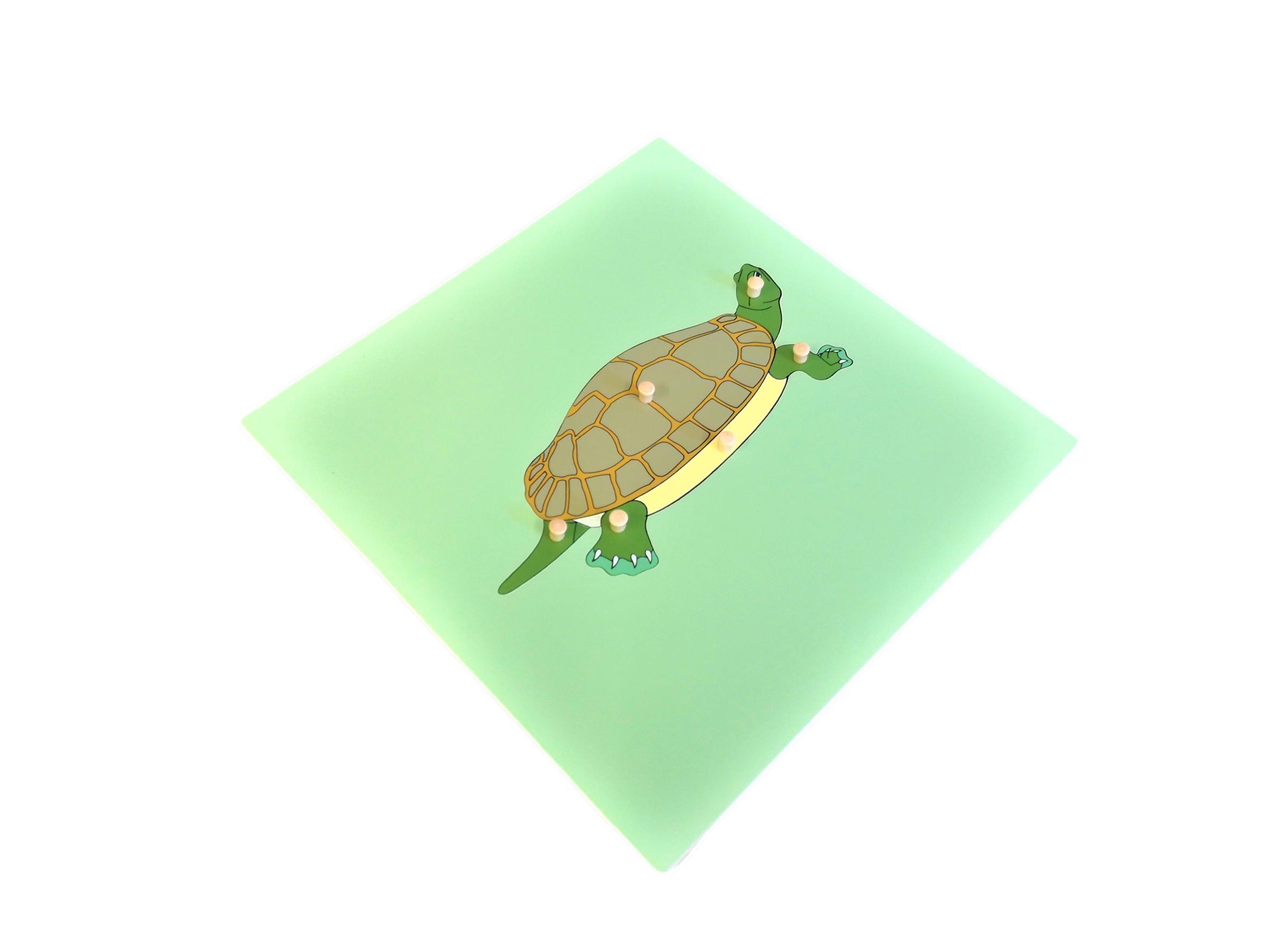 Puzzle s kostrou - želva