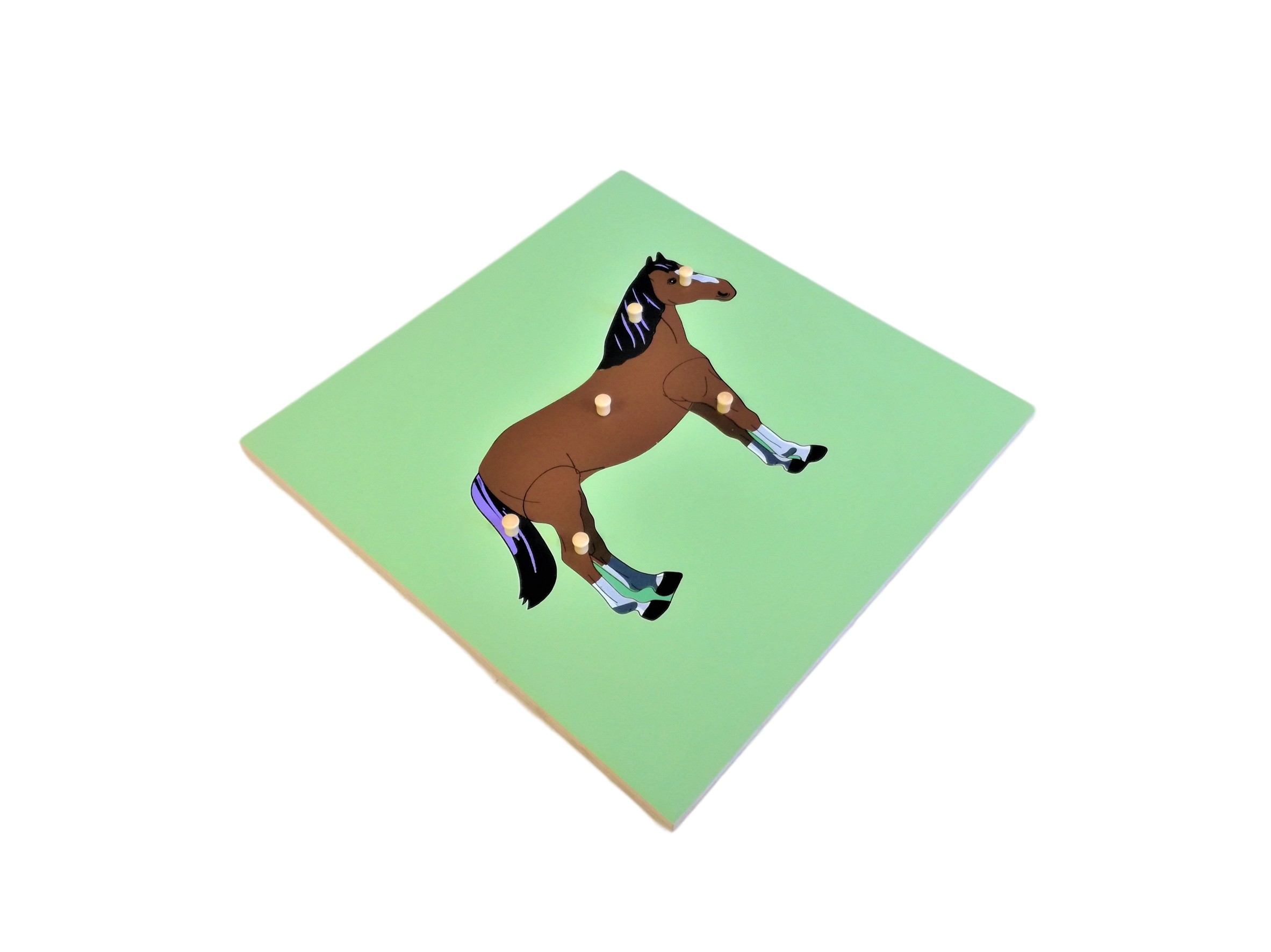 Puzzle s kostrou - kůň