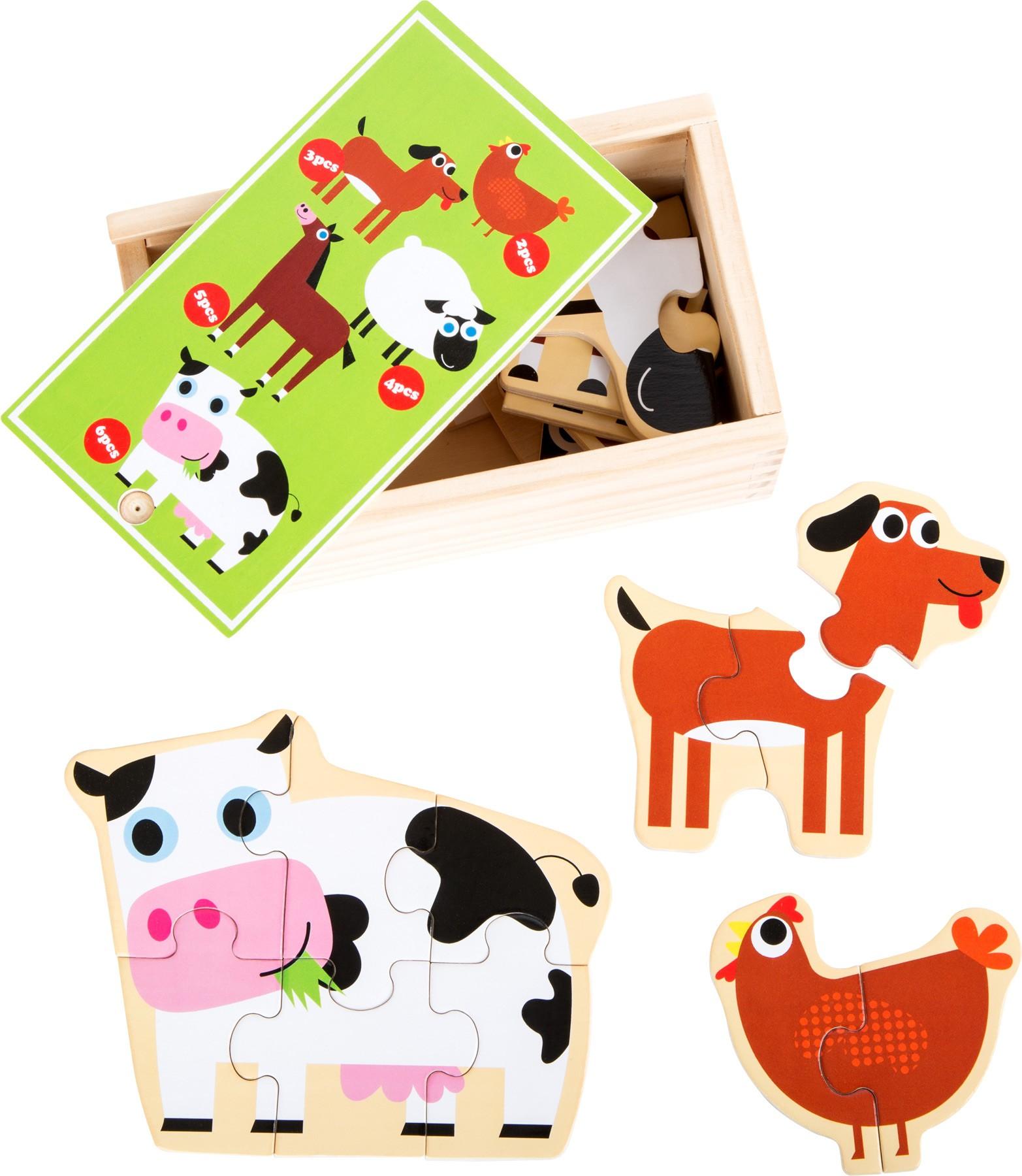 Puzzle - zvířata z farmy