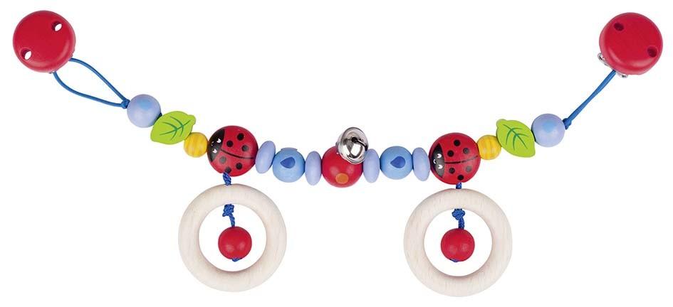 Řetěz do kočárku - berušky, rolnička a kroužky