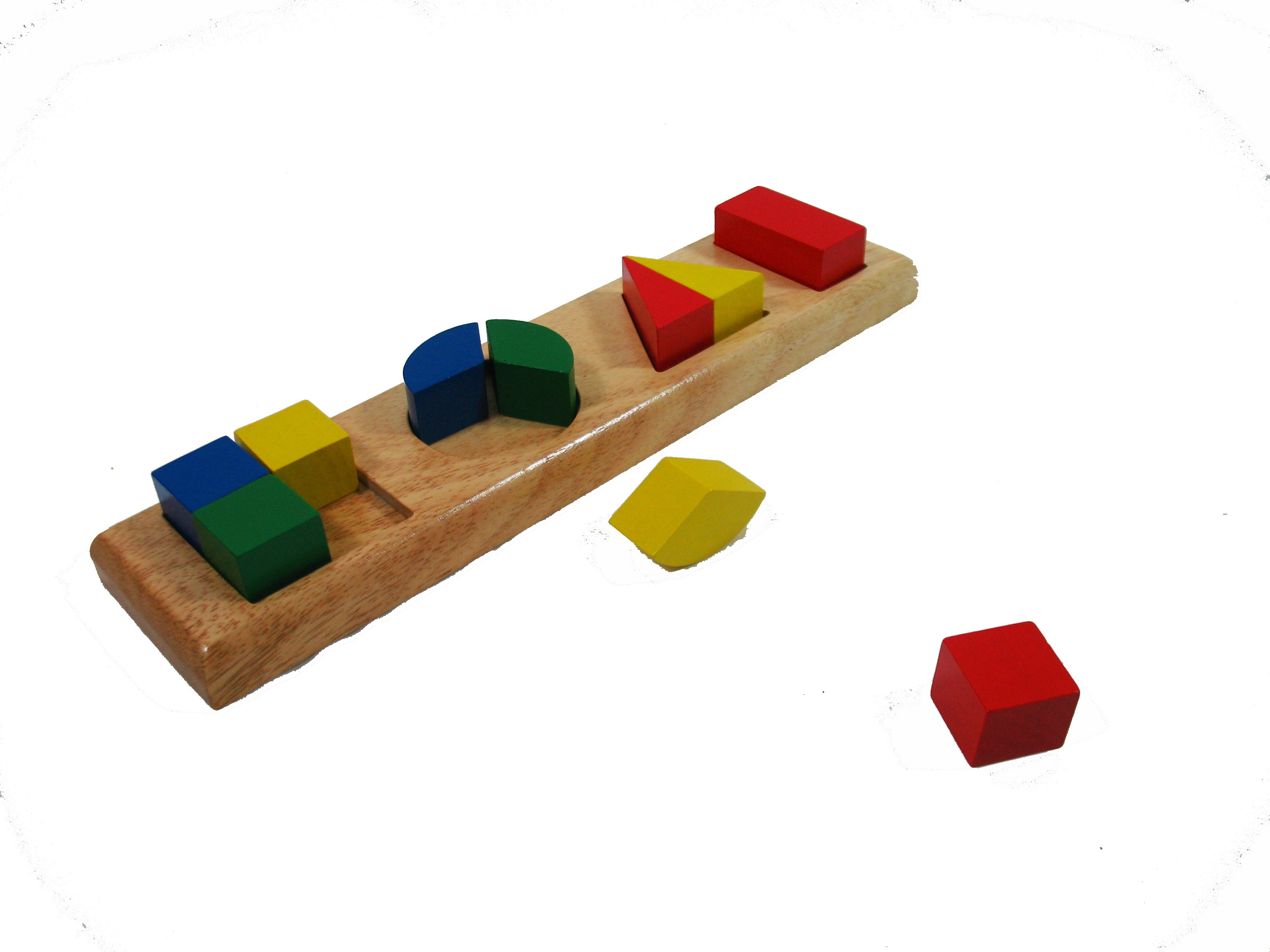 Různobarevné cihly, 4 základní tvary