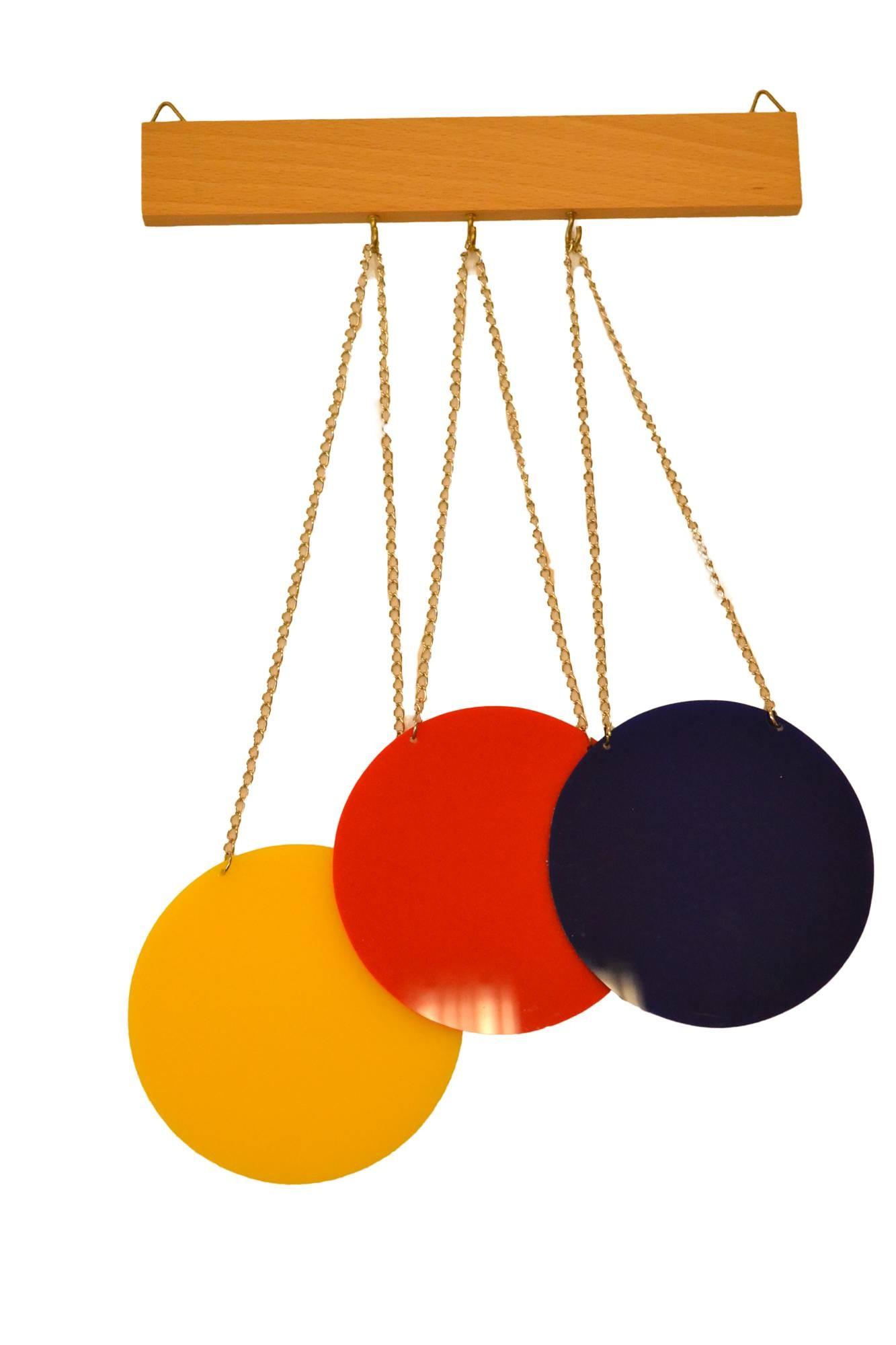 Sada třech barevných disků