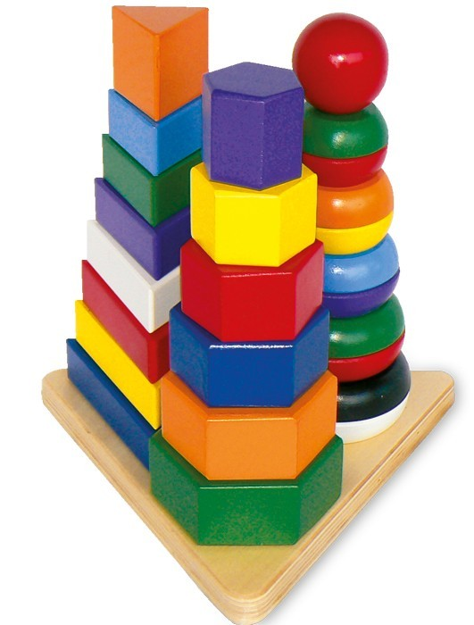 Skladací pyramidy 3 v 1