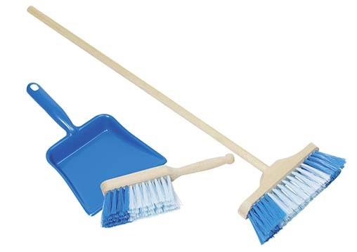 Smetáček, lopatka, smeták - modrý