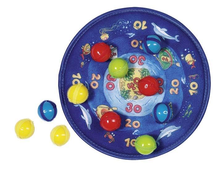 Terč na suchý zip s 12 míčky – Oceán