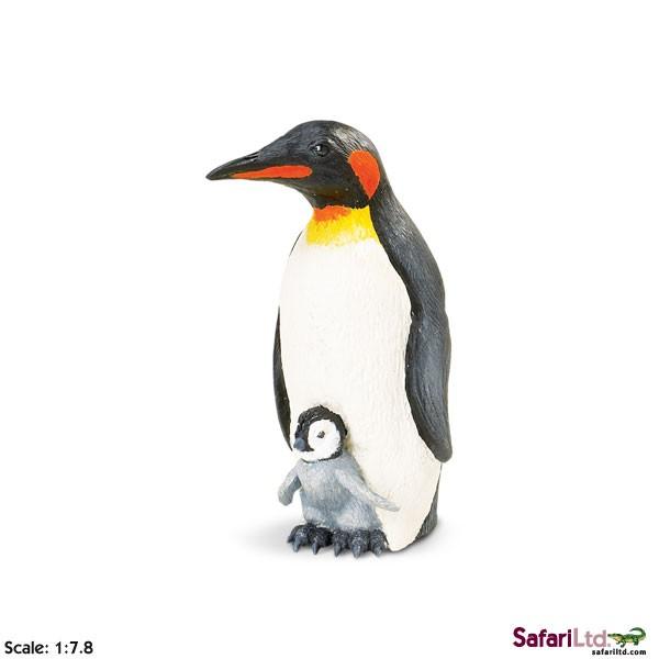 Tučňák císařský s mládětem
