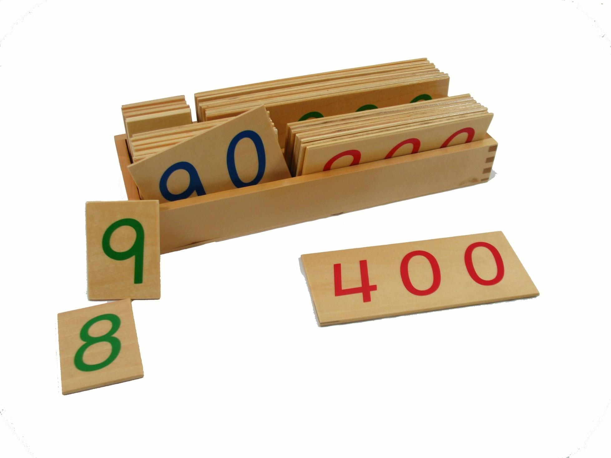 Velké dřevěné karty s čísly 1-9000