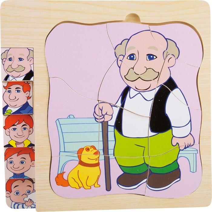 Vrstvené puzzle - Život dědečka