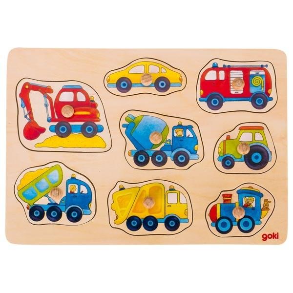 Vkládací puzzle - dopravní prostředky
