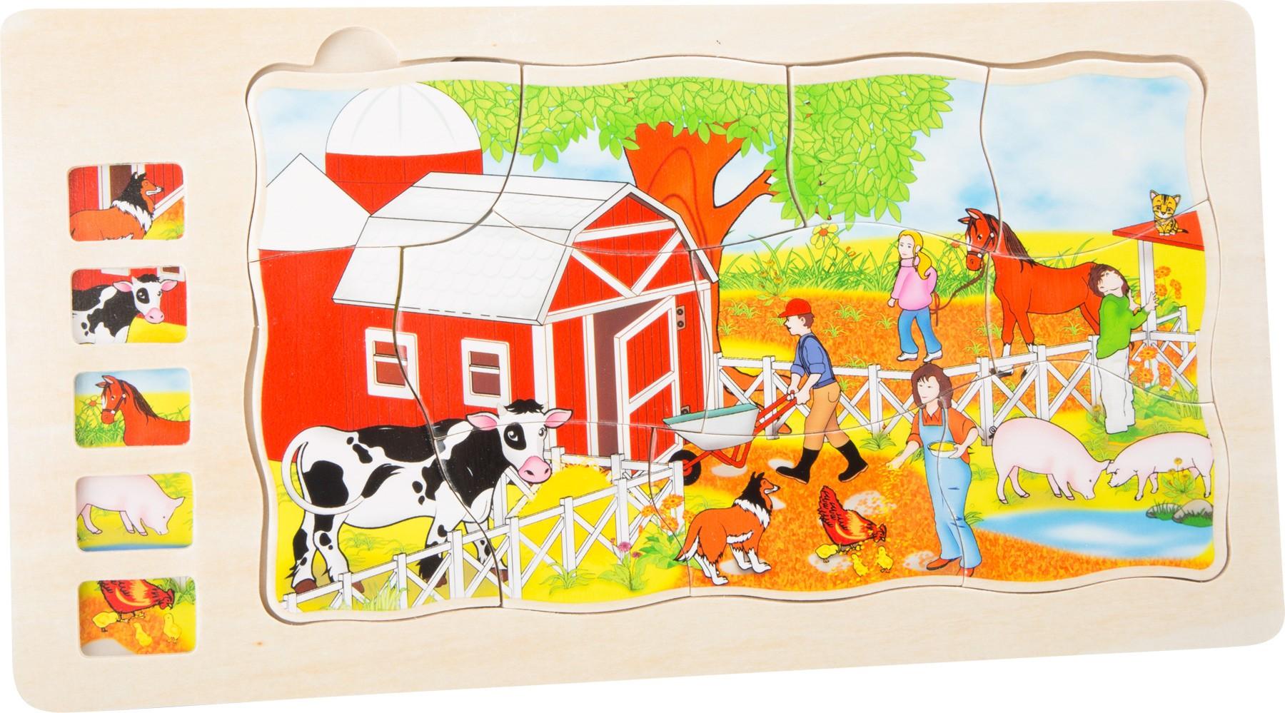 Vrstvené puzzle - Farma