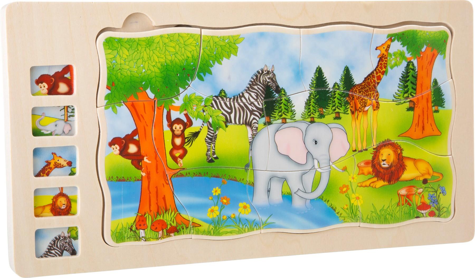 Vrstvené puzzle - Safari