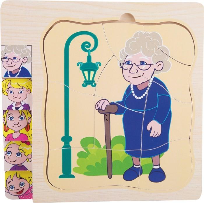 Vrstvené puzzle - Život babičky