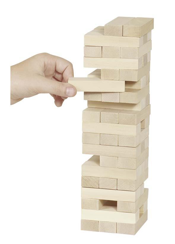 Zábavná hra – Dřevěná věž Jenga natur