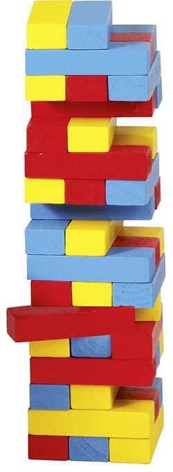 Zábavná hra – Vratká věž Jenga barevná