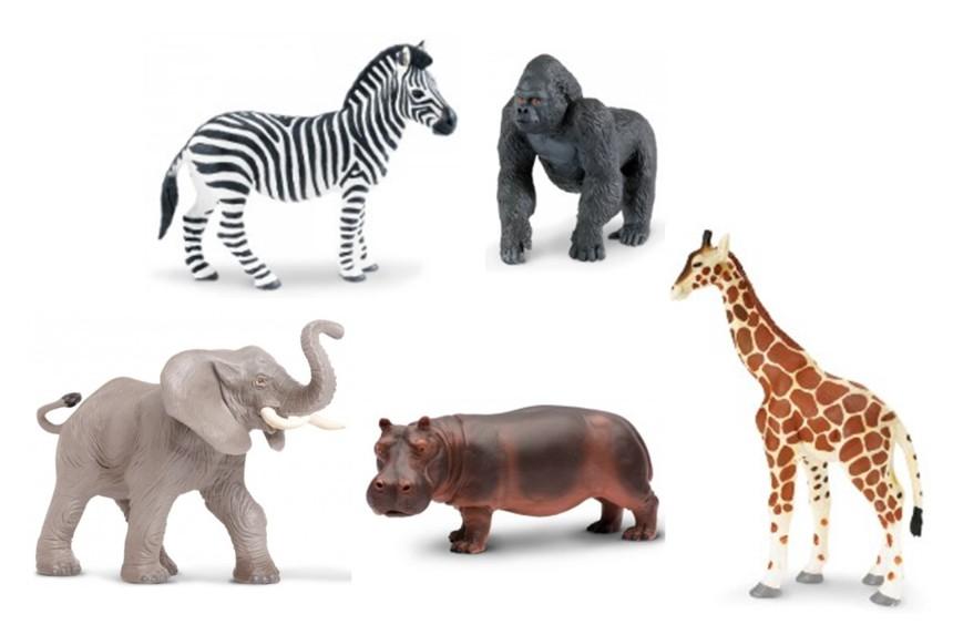 Zvířata ze ZOO (5 ks)
