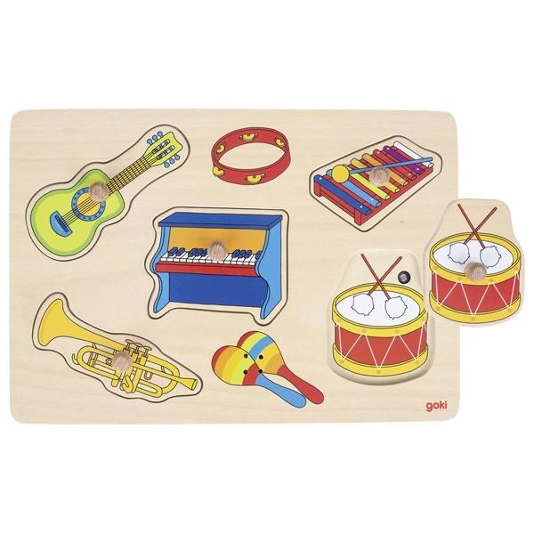 Zvukové puzzle - zvuky hudebních nástrojů