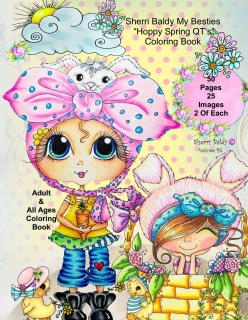 Sherri Baldy My-Besties - Hoppy Spring Qt's Coloring Book