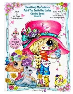 Sherri Baldy My-Besties - Pat and the Bird Ladies Coloring Book