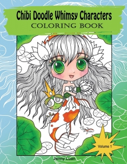 Chibi Doodle Whimsy Characters Coloring Book - Jenny Luan