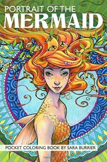 Portrait of the Mermaid - Pocket Coloring Book - Sara Burrier