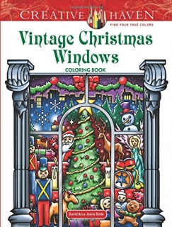 Vintage Christmas Windows Coloring Book - David Bodo