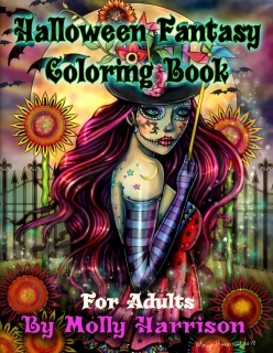 Halloween Fantasy Coloring Book for Adults - Molly Harrison