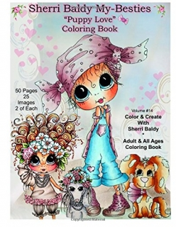 Sherri Baldy My-Besties Puppy Love Coloring Book