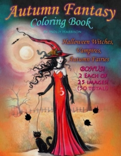 Autumn Fantasy Coloring Book - Molly Harrison