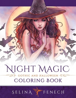 Night Magic - Gothic and Halloween Coloring Book - Selina Fenech