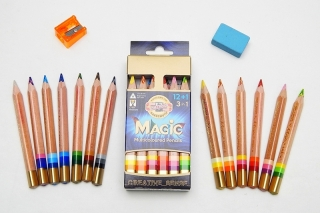 Pastelky Koh-I-Noor Magic Natur 12+3 - 3404