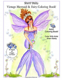 Sherri Baldy Vintage Mermaid and Fairy Coloring Book