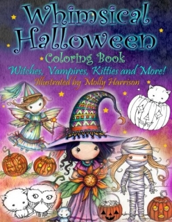 Whimsical Halloween Coloring Book - Molly Harrison