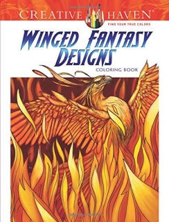 Winged Fantasy Designs Coloring Book - Aaron Pocock