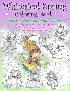 Whimsical Spring Coloring Book - Molly Harrison